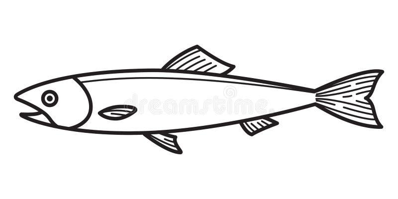 Pesque os desenhos animados salmon do gráfico do símbolo do caráter da ilustração do logotipo do ícone ilustração royalty free