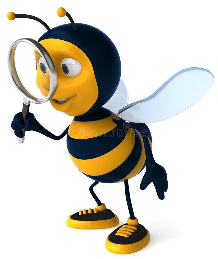 Pesquisa da abelha ilustração stock