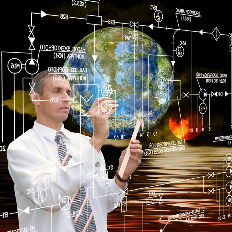 Pesquisa da astronomia da engenharia imagens de stock royalty free