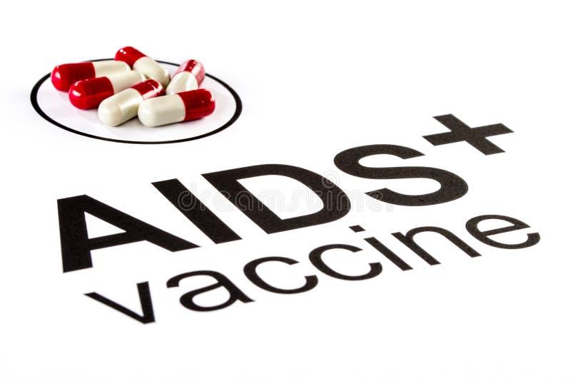 Pesquisa da ciência pela cápsula vacinal oral do SIDA, VIH imagem de stock