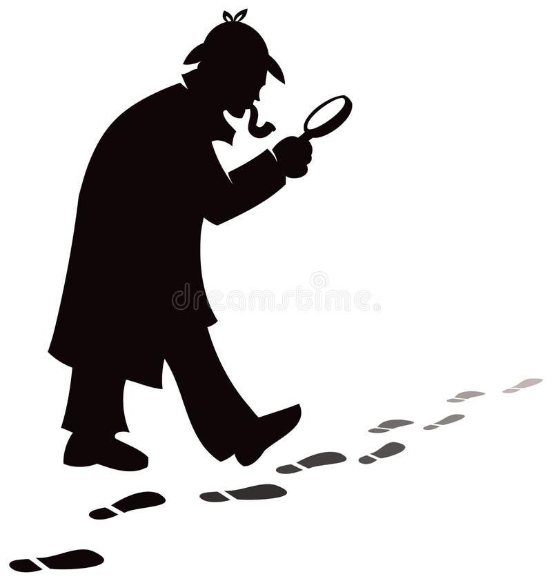 Pesquisa do detetive ilustração do vetor