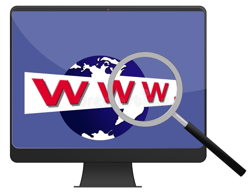 Pesquisa do Web ilustração do vetor