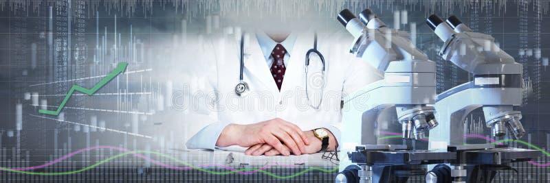 Pesquisa farmacêutica do laboratório ilustração stock