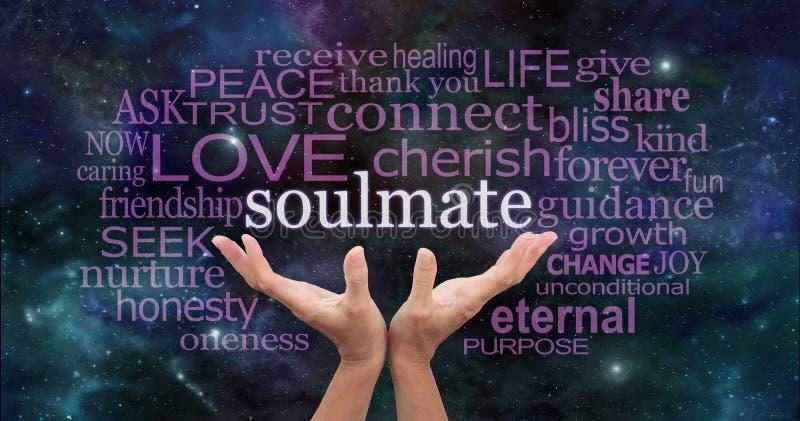 Pesquisa por minha nuvem da palavra do Soulmate imagens de stock royalty free