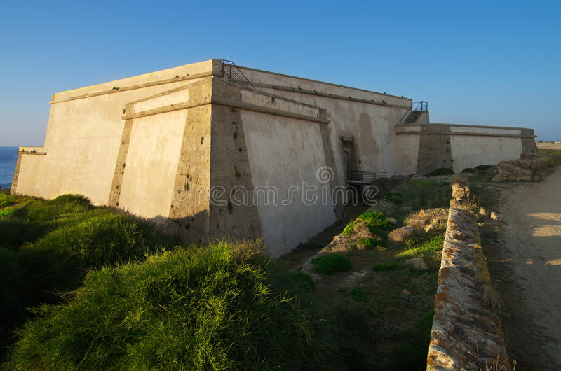 Download Pessegueiro beach fort HDR stock photo. Image of monument - 26454632