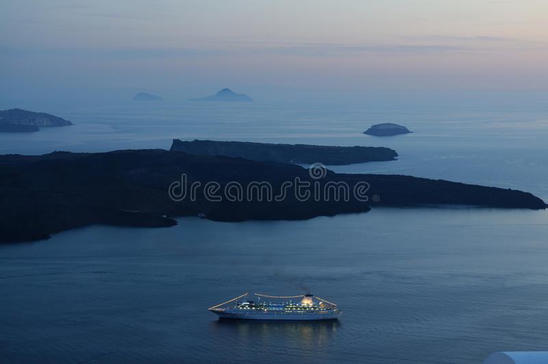 Download Pessenger Ship In The Evening Stock Photo - Image: 28497192