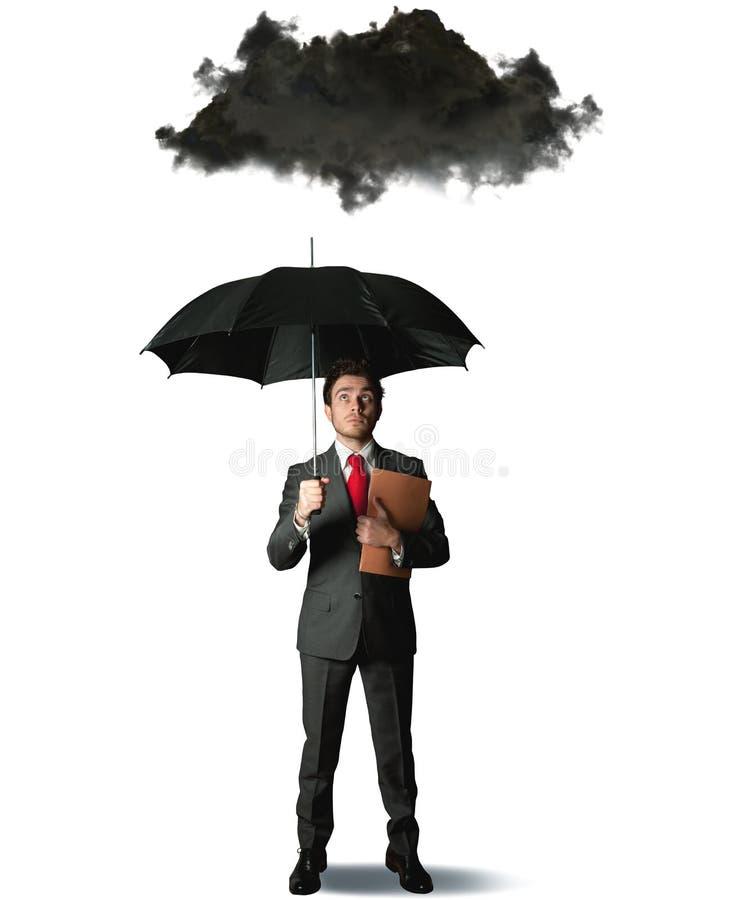 Pessimist im Geschäft lizenzfreie stockfotografie