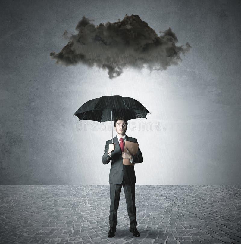 Pessimiste dans les affaires image stock