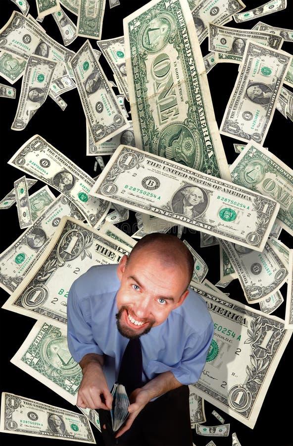Pessoa ávida de dinheiro nova fotos de stock royalty free