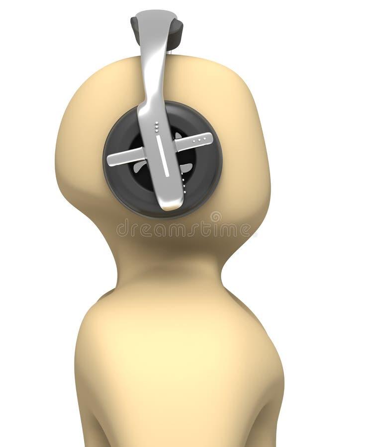 Download Pessoa 3d Que Escuta A Música Ilustração Stock - Ilustração de roupa, escutar: 10060543