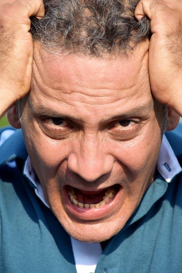 Pessoa colombiana fatigante imagem de stock royalty free