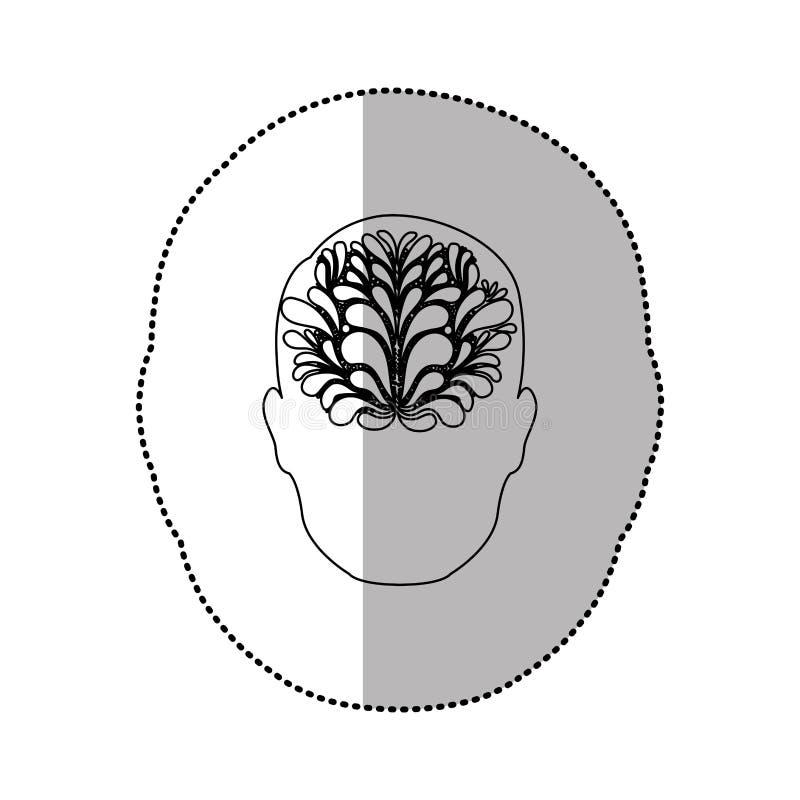pessoa com ícone da ideia do cérebro ilustração stock