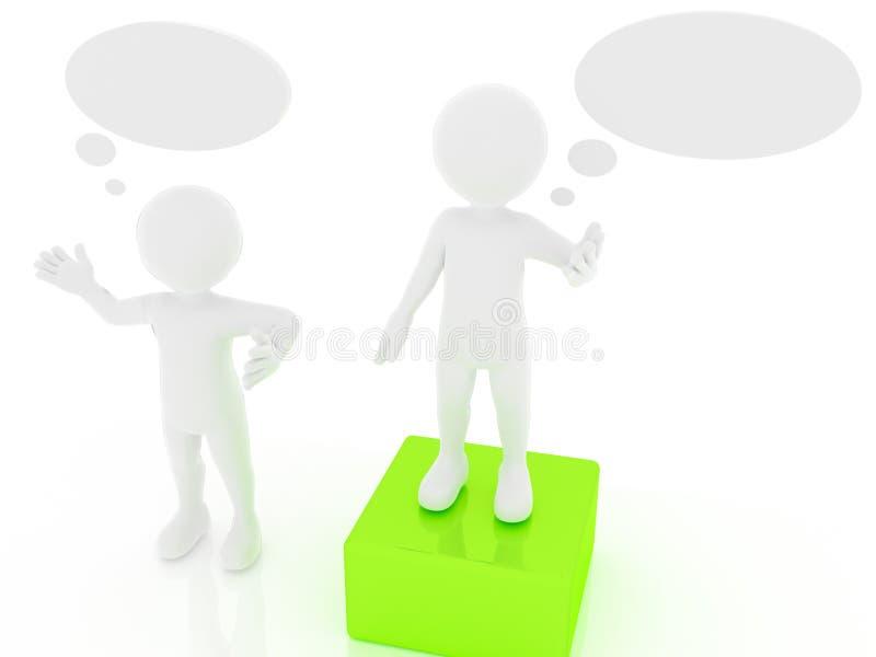 Pessoa com bolha vazia do discurso ilustração do vetor