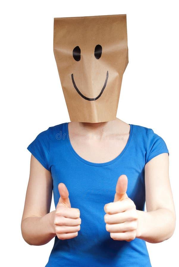 Pessoa com uma máscara foto de stock royalty free