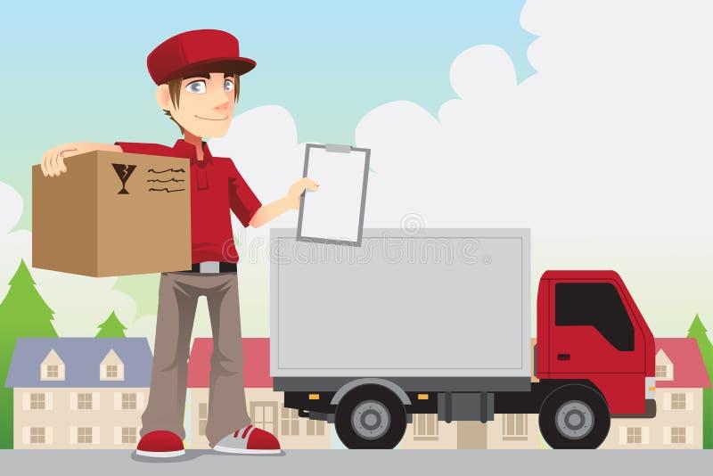 Pessoa da entrega ilustração stock