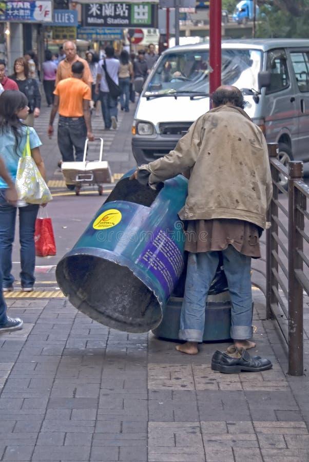 Pessoa de rua, Kowloon, Hong Kong foto de stock