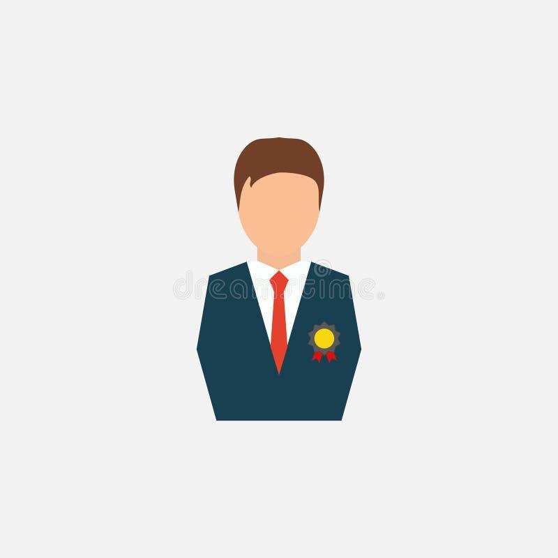 Pessoa decorada, ícone Homem Negócios Ilustração do vetor Eps 10 ilustração do vetor