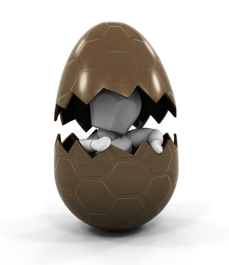 Pessoa dentro do ovo de Easter ilustração do vetor