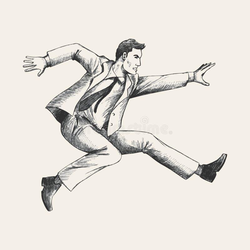 Pessoa dinâmica ilustração do vetor