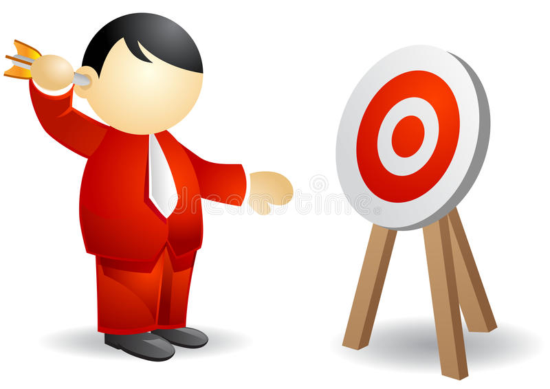 Pessoa do negócio - alvejando ilustração stock