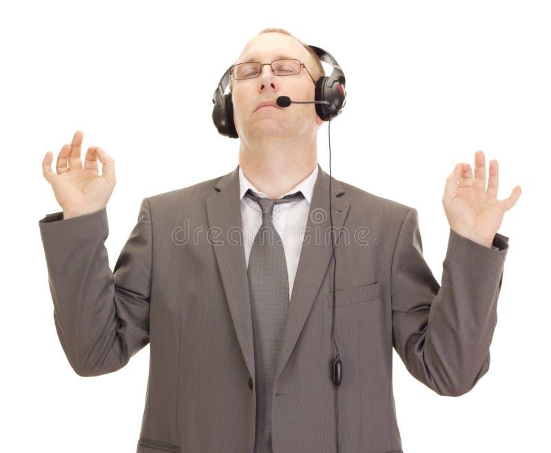 Pessoa do negócio com jogo da cabeça foto de stock