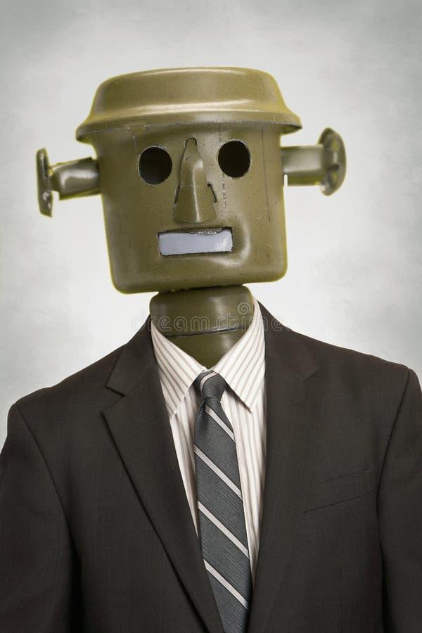 Pessoa do negócio do robô foto de stock