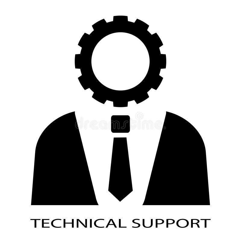 Pessoa do suporte laboral ilustração stock