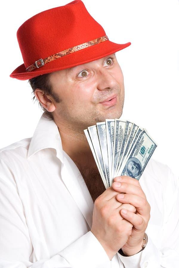 A pessoa e o dinheiro foto de stock royalty free
