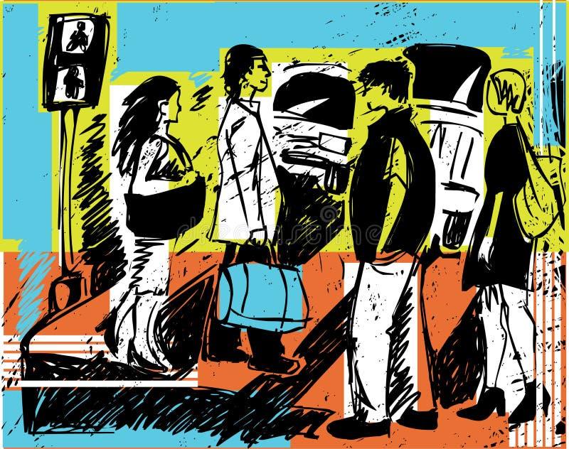 Pessoa-esboços ilustração do vetor