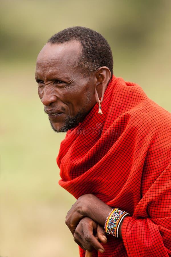 Pessoa idosa de Maasai imagens de stock