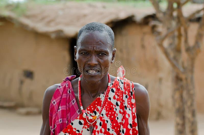 Pessoa idosa do Masai foto de stock royalty free