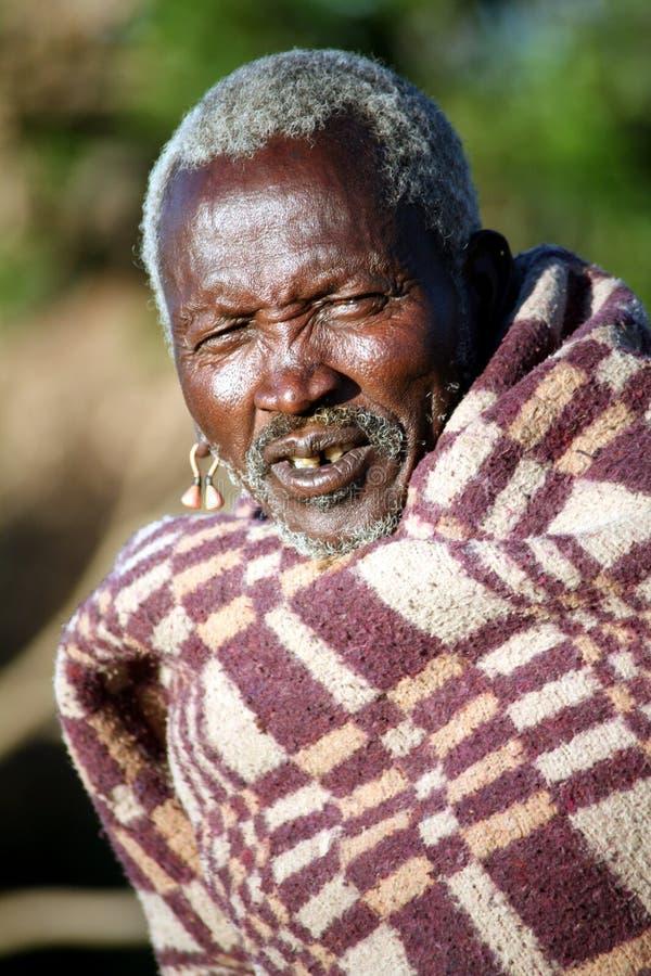Pessoa idosa do Masai (Kenya) fotos de stock