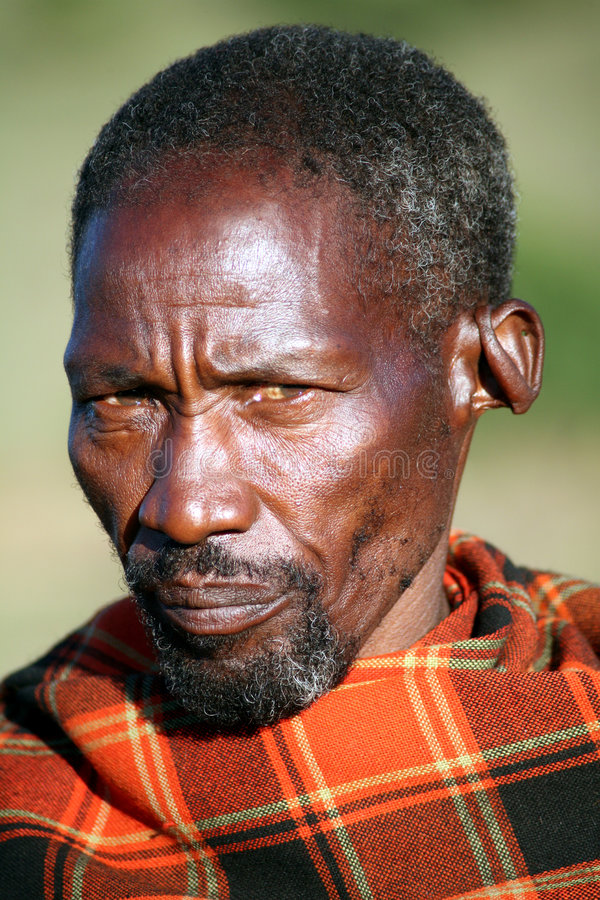Pessoa idosa do Masai (Kenya) imagens de stock royalty free