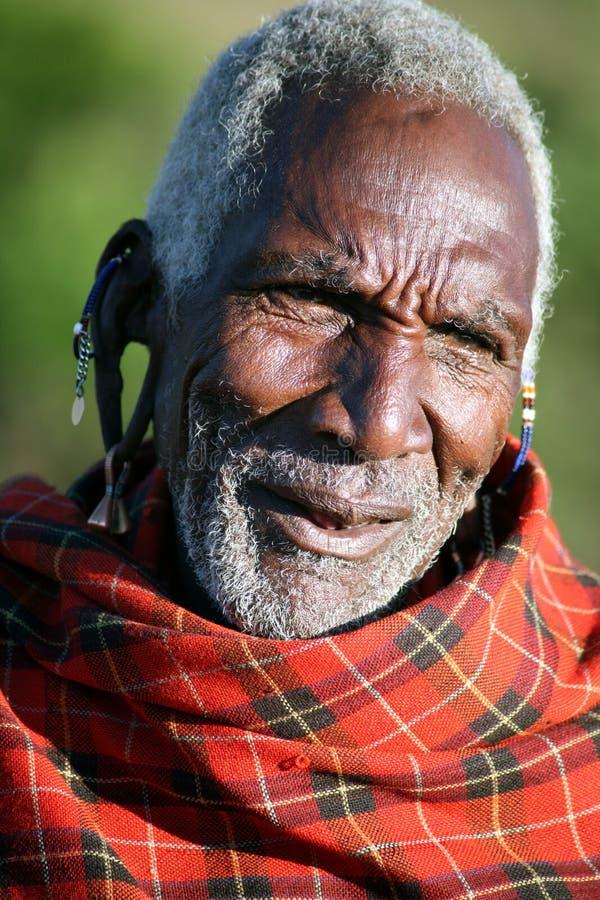 Pessoa idosa do Masai (Kenya) imagem de stock
