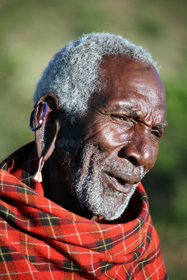 Pessoa idosa do Masai (Kenya) imagem de stock royalty free