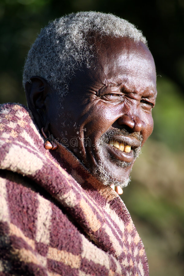 Pessoa idosa do Masai (Kenya) foto de stock royalty free