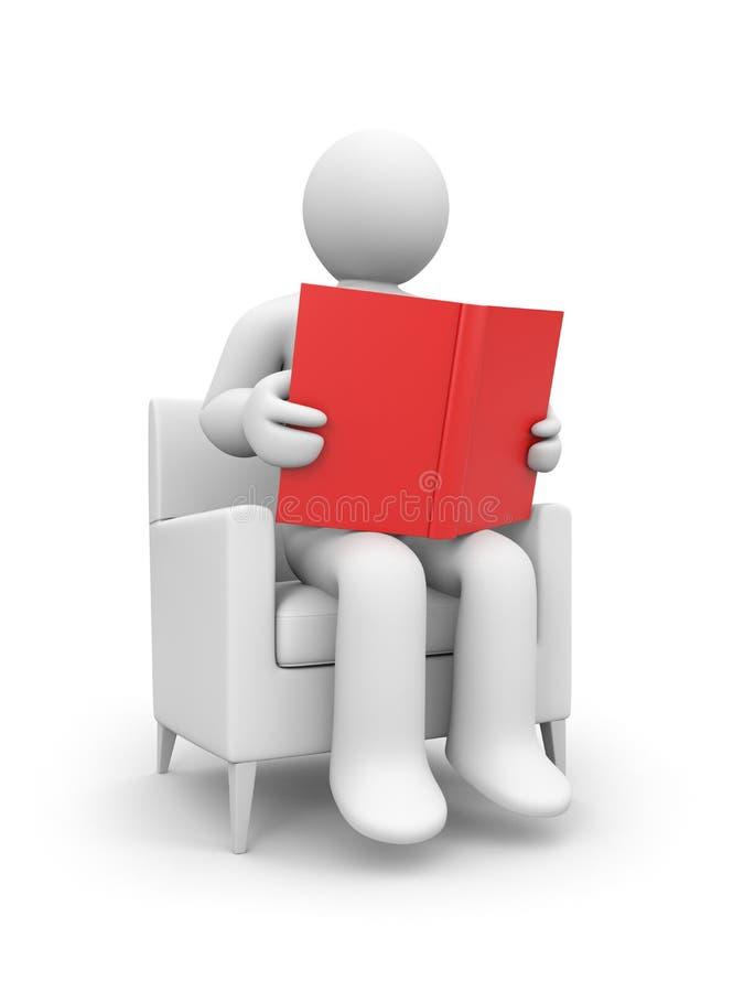 A pessoa leu o livro ilustração do vetor
