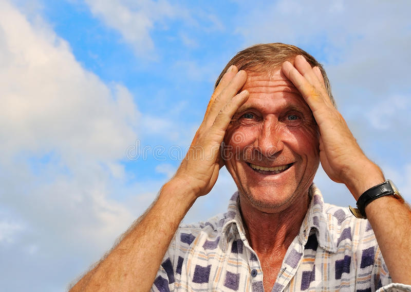 Pessoa masculina envelhecida média fotografia de stock royalty free
