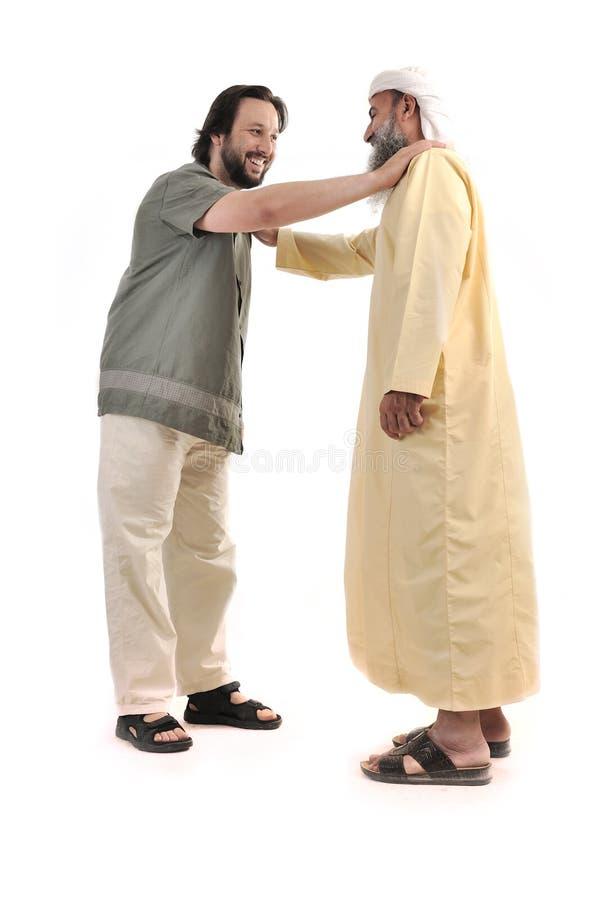 Pessoa muçulmana árabe do homem de negócios imagem de stock