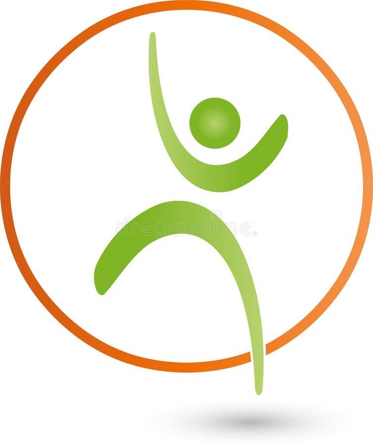 Pessoa no movimento, logotipo colorida, do esporte e da aptidão ilustração do vetor