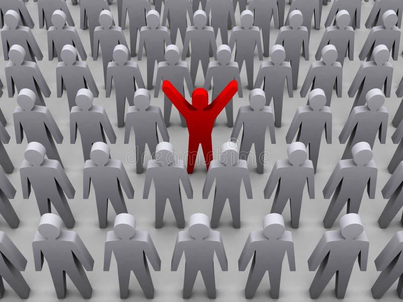 Pessoa original na multidão. ilustração stock