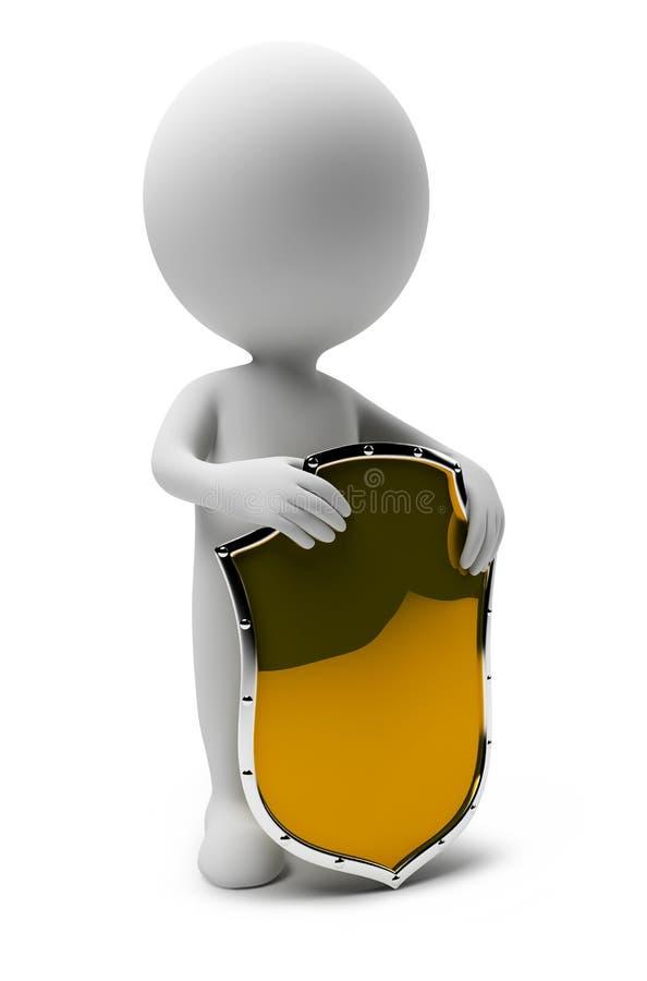 pessoa-protetor 3d pequeno ilustração stock