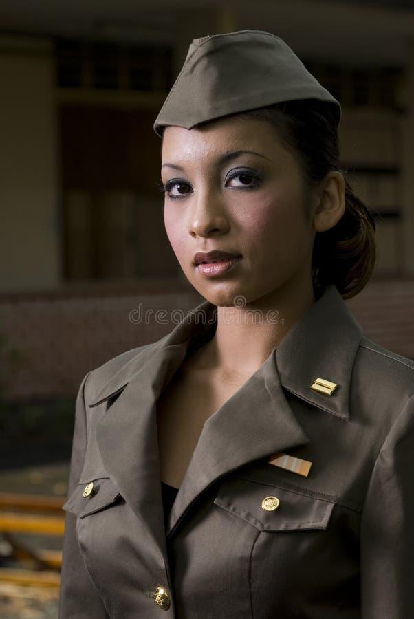 Pessoais do exército fêmeas fotografia de stock royalty free