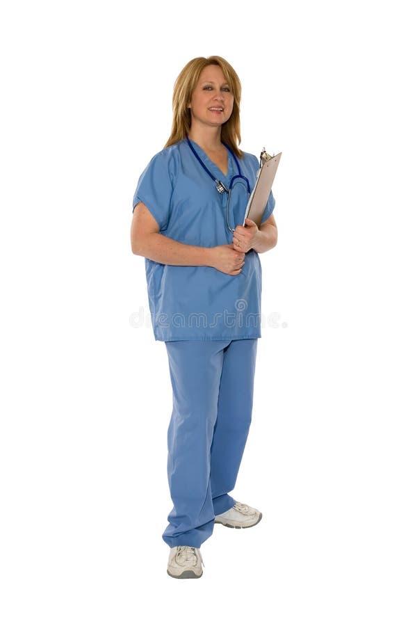 Pessoais médicos isolados no branco imagens de stock