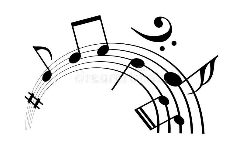 Pessoal da música e ícone do vetor das notas ilustração royalty free