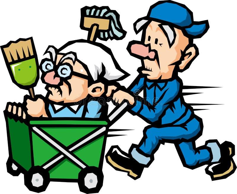 Pessoal de limpeza ilustração do vetor