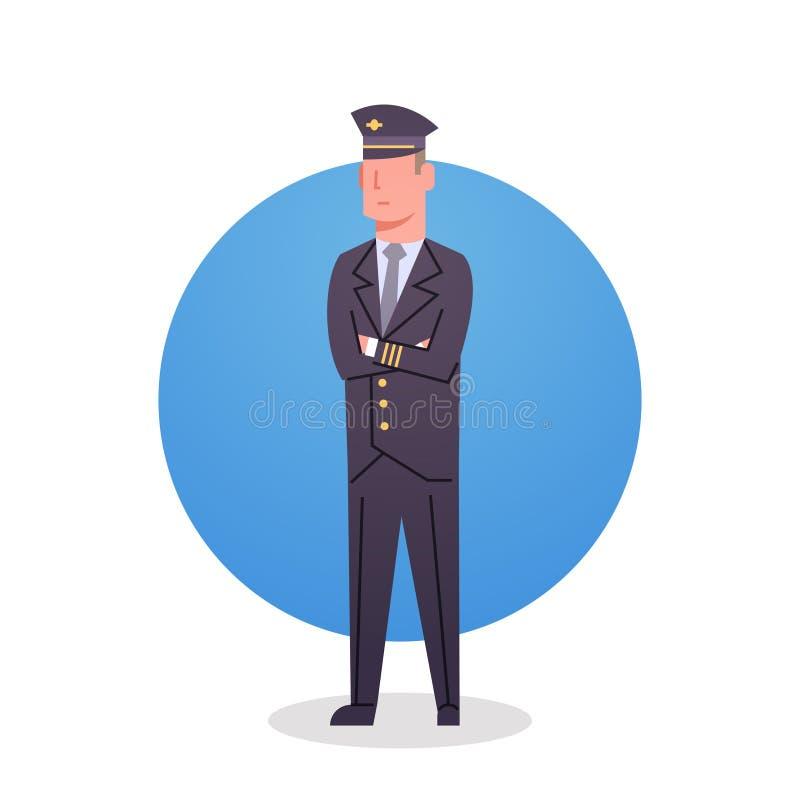 Pessoal do trabalhador do grupo de Icon Airport Airline do piloto ilustração royalty free