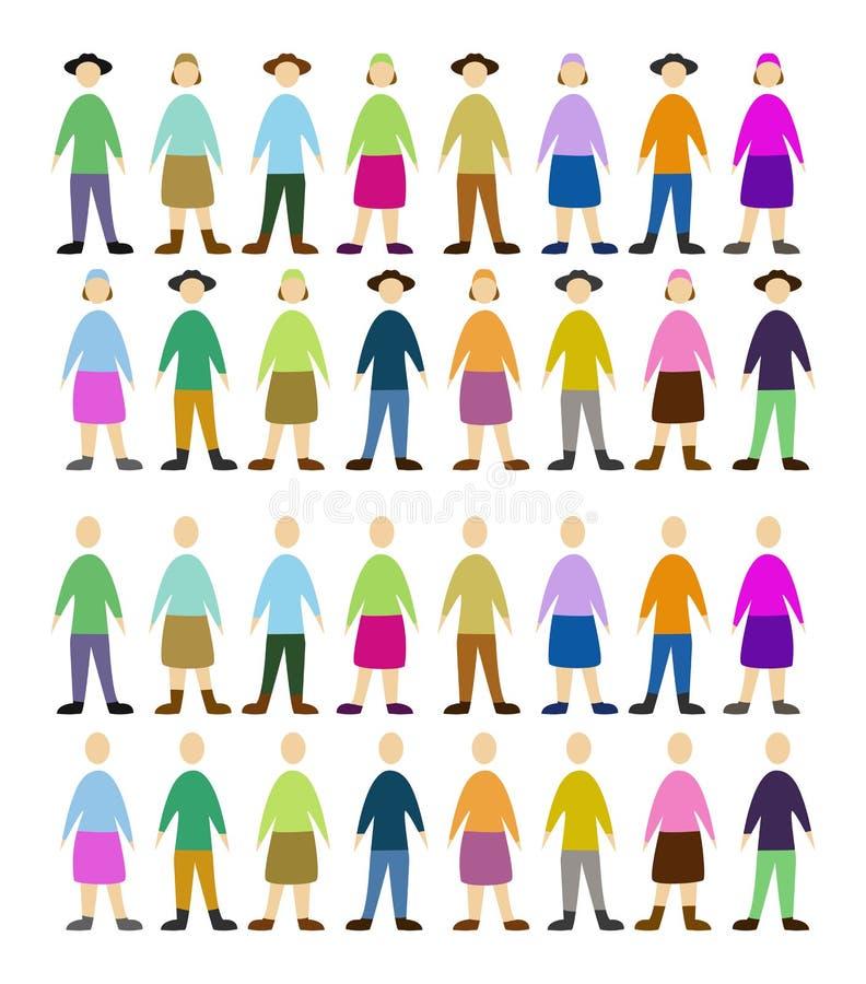 Pessoas ilustração stock
