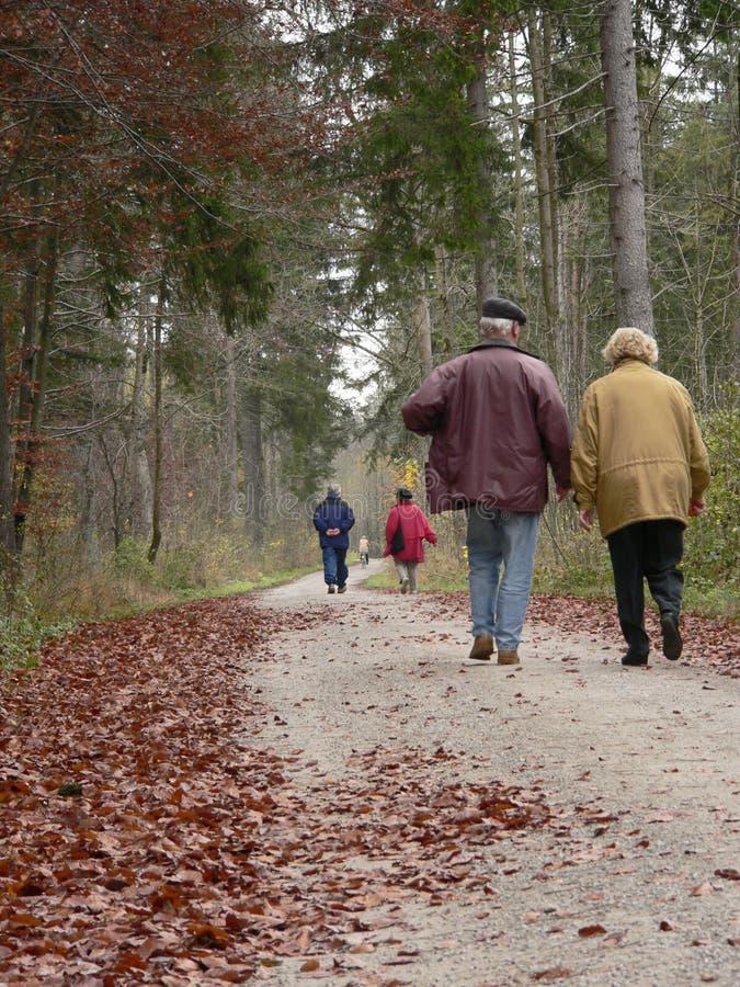 Pessoas adultas do passeio ao ar livre fotografia de stock royalty free