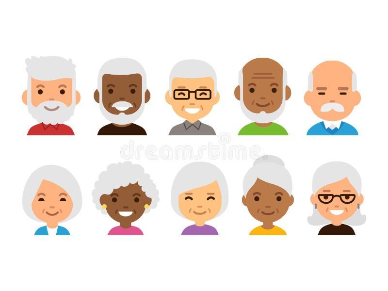 Pessoas adultas dos avatars ilustração stock